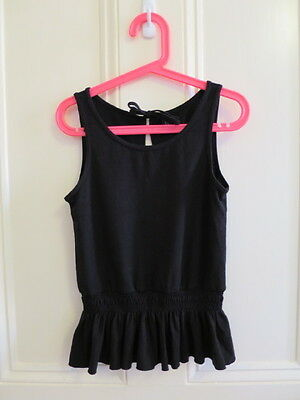 Bloch Girls Dance Top Black Size 8-10 Preloved, excellent condition