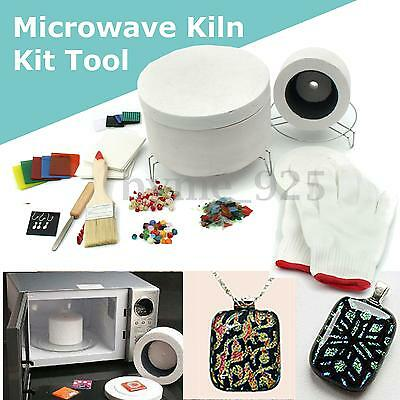 Stained Glass Fusing Supplies Professional Microwave Kiln Tool Jewellery DIY Kit