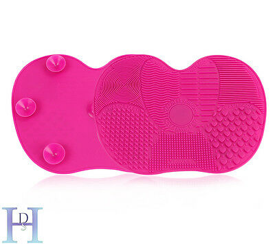 Silicone Makeup Brush Cleaner Cleaning Cosmetic Scrubber Board Mat Pad Tool UK