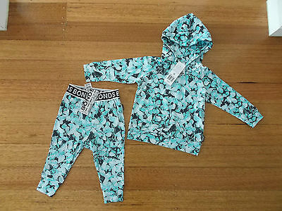 BNWT BONDS Baby Hoodie and Pants Set Size 0 (6-12mths) RRP$49.90