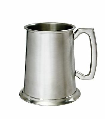 1 Pint Plain Pewter Tankard With Free Engraving