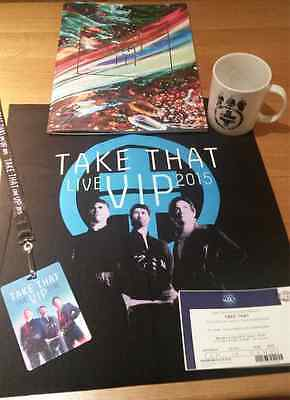Take That Iii 2015 Tour Programme Autographed By The Band Members + Vip Extras!!