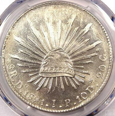 1891-Do JP Mexico 8 Reales Coin (8R) - PCGS Uncirculated Detail (UNC MS) - Rare!
