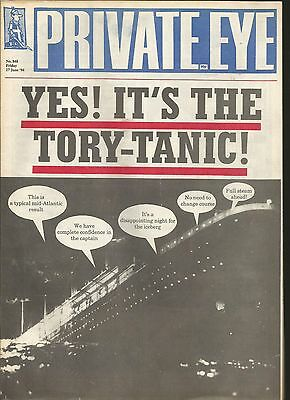 Private Eye Mag # 848  17 June 1994 Tory  Titanic  White Star Line  Cunard cover