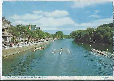 # 489 River Ouse from Bridge Bedford ET 3342 VGC Unposted