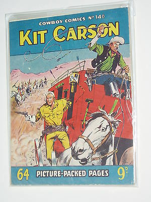 "COWBOY ""Pocket Size"" Comic...1956....No 146...KIT CARSON..........FREE POSTAGE.."