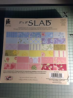 "Pretty Paper Slab 8"" X 8"" Crafting Scrapbooking Backing Papers"