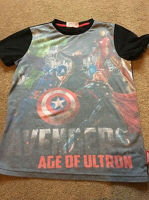 Boy's Clothes - Marvel Avengers T-shirt Age 9-10 Years From Tesco