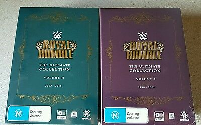 Royal Rumble DVDS - Ultimate Collection Volume 1 & 2 Brand New - Wrestling WWE