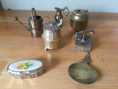 Collection of 7 Miniature Brass Ornaments