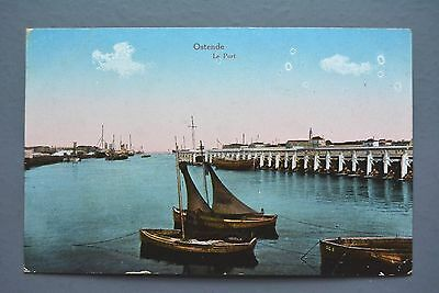 R&L Postcard: Ostend Le Port, Boats