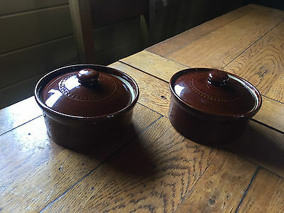 Pair of Stoneware Ovenware Dishes