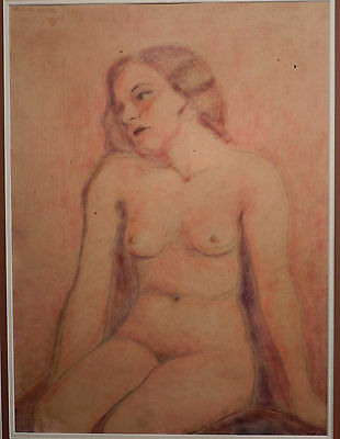 Hugo Zacchini Human Cannonball Oil Painting Nude Young Female Antique PrettyGirl