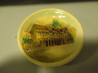Vintage W H Bossons mini-plaque - Shakespeare's Birthplace