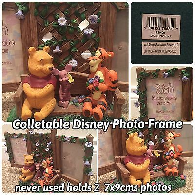 Collectable Disney Winnie The Pooh Double Photo Frame Piglet And Tigger