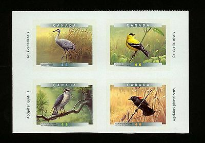 Canada 46c x 4 self-adhesive stamps Birds of Canada – Mint – 1999 issue