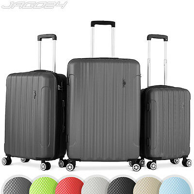 Set 3 valises bagages voyage lot trolley ABS coque rigide 4 roulettes 360° CHOIX