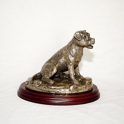 BORDER TERRIER  Bronze Figurine. Hand made in England. Ideal gift.