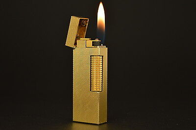 Serviced Dunhill Rollagas Rolla Gas Lighter Swiss Switzerland Vintage #85