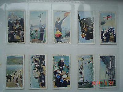 Cigarette Cards Will's Life in the Royal Navy 1939 Part Set