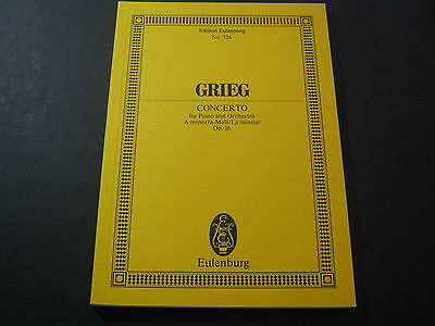 Noten: Grieg, Concerto for Piano and Orchestra A minor, Op.16, Eulenburg Nr. 726