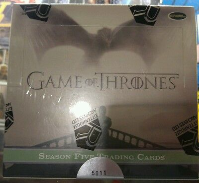 game of thrones season 5 trading cards sealed box autograph cards ? rare new