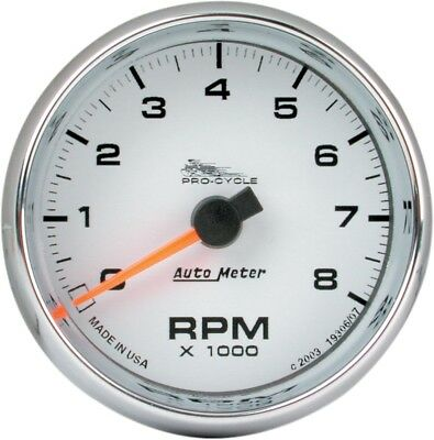 Auto Meter 19307 Electronic Tachometer 2 5/8in. White Face