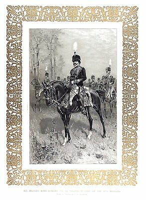 King Edward VII (As Colonel-in-Chief of 10th Hussars) Litho after H. W. Koekkork
