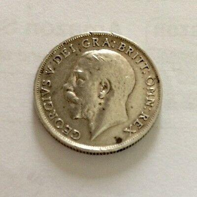 1917 English Shilling. Scarcer Date VF Collectable.