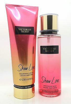 Victoria's Secret New Sheer Love Fragrance Mist + Lotion  Set Gift