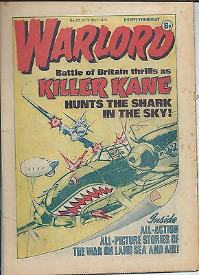 Warlord Comic number 97 July 31st 1976