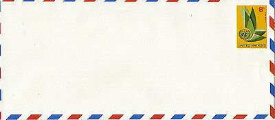 UNITED NATIONS 1963 8c PRE PAID AIR MAIL LARGE ENVELOPE MINT / UNUSED NY