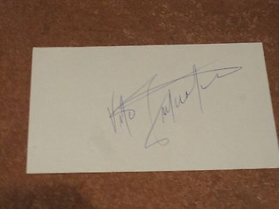Vito Antuofermo Autographed Index Card PSA Pre-certified