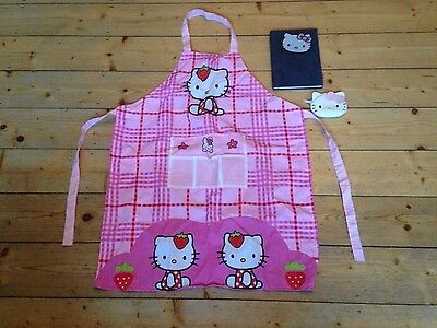 Hello Kitty apron, notebook and purse