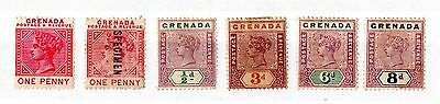 Grenada QV Collection of 6 Mint Values X5137