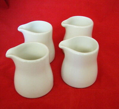 4 Dudson Stoke on Trent Small Cream / Milk Jugs approx Height 4.5cm Free P&P