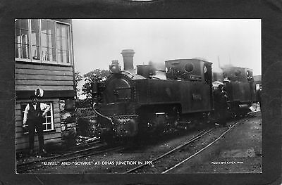 WELSH HIGHLAND Rly. loco RUSSELL & GOWRIE @ DINAS 1909 - Commercial P/C -UNUSED