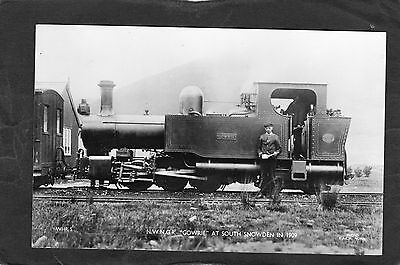 WELSH HIGHLAND Rly. loco GOWRIE @ SOUTH SNOWDEN 1909- Commercial P/C -UNUSED