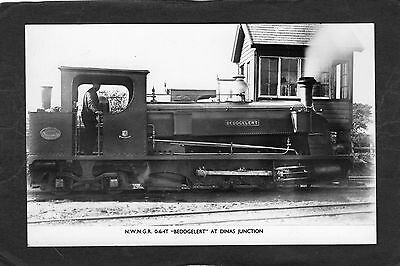 WELSH HIGHLAND Rly. loco BEDDGELERT @ DINAS JUNCTION-Commercial P/C -UNUSED