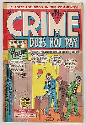 Crime Does Not Pay #70, Beautiful Copy - Very Good Condition.