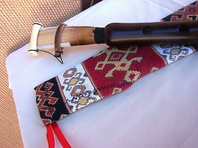 Handmade Pro Armenian Duduk in Fabric Ornament Case, Apricot Wood and Gift