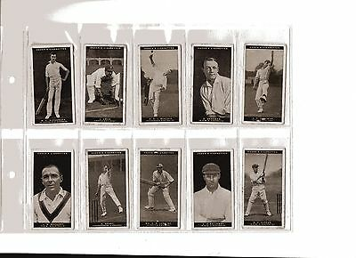 OGDENS 1928/9 - AUSTRALIAN TEST CRICKETERS - 19 of 36 - ALL LISTED