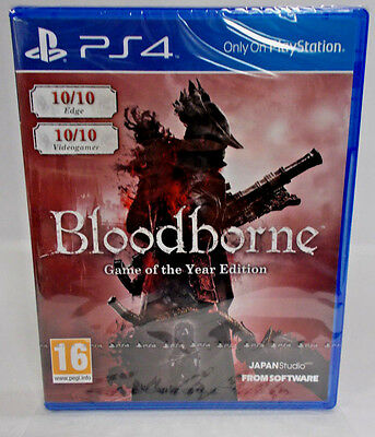 **FASTFREE SHIP** NEW Bloodborne GAME OF THE YEAR  FACTORY SEALED PS4