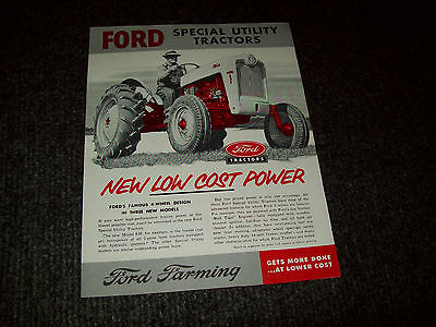 Ford 820 630 620 Tractor Brochure Ad Literature