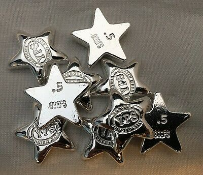 "1/2 Troy Ounce Hand Poured 999 Silver Bullion ""Star"" by YPS Yeager's"