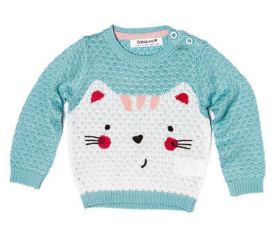 Baby Girls Knitted Jumper By Babaluno - Aqua (12-24 Months)