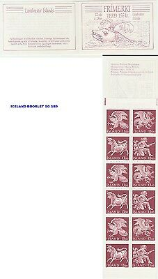 Iceland 1987 Guardian Spirits Booklet SG SB9 - Dragon, Bull, Vulture, Giant MNH