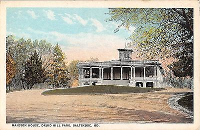 Maryland postcard Baltimore, Mansion House Druid Hill Park