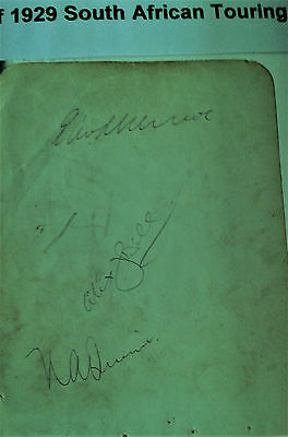 south african cricketers 1929 touring team autograph page