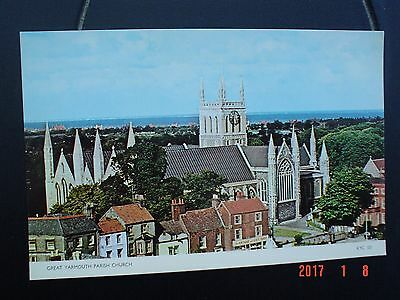 Postcard St Nicholas Parish Church Great Yarmouth Norfolk